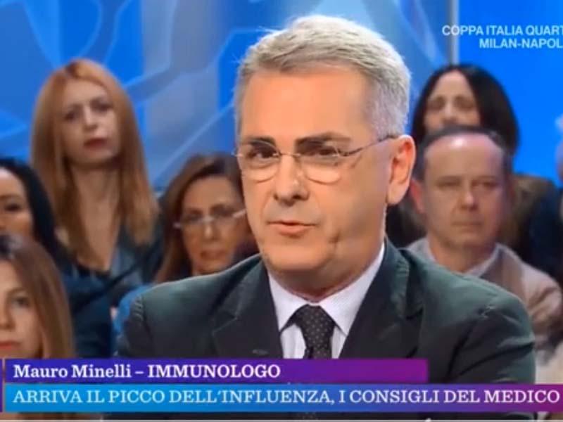 """L'intervento del Prof. Mauro Minelli, nella trasmissione di Rai 1, """"La Vita In Diretta"""", dove ha parlato della stagione influenzale in corso"""