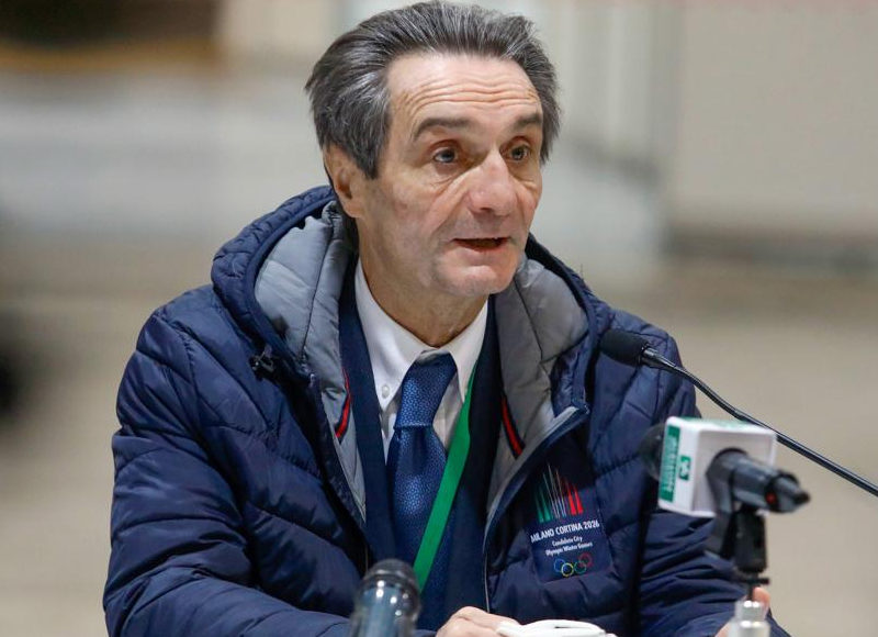 presidente di Regione Lombardia, Attilio Fontana